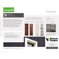 Accoya Benefits Sheets