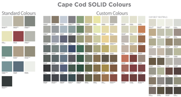 Cape Cod colour selector