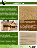 European Oak Product Brochure