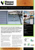 Accoya Case Study - Boathouse, Loch Lomond