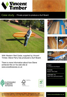 Western Red Cedar Case Study - Surf Board