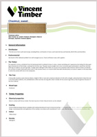 Sweet Chestnut Data Sheet
