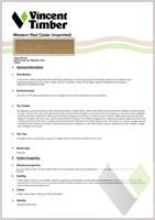 Western Red Cedar Data Sheet