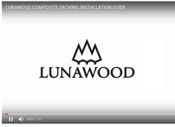 Luna Comp Decking Installation Guide video